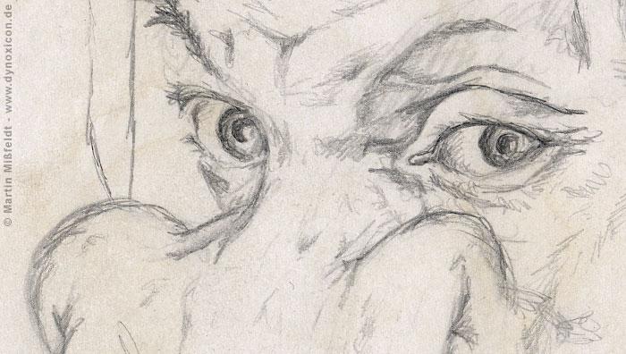 Albrecht Durer mother as giraffe (Detail 1)