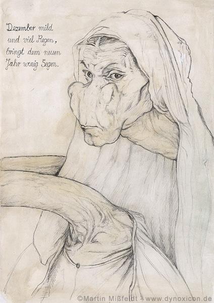 Albrecht Dürers mother as giraffe