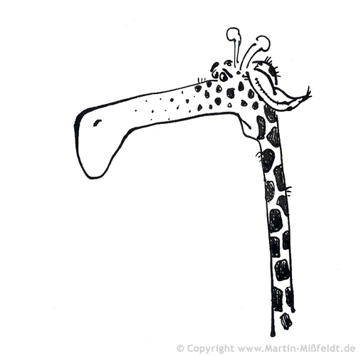 Giraffe is sad