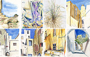 Watercolor paintings Naxos