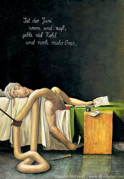 Death of Marat - after Jacques Louis David