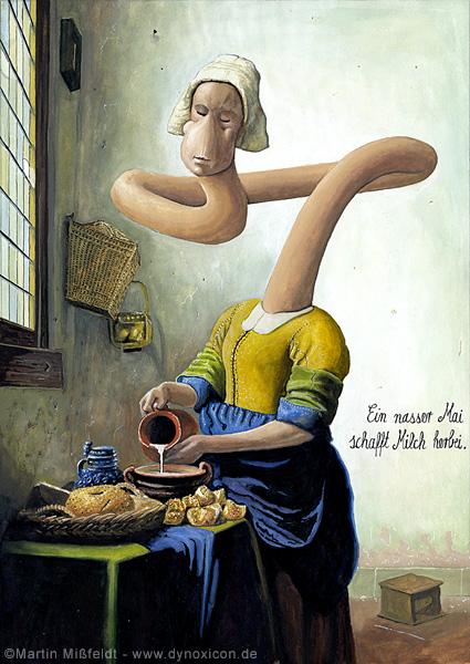 Milk maid after Johannes Vermeer