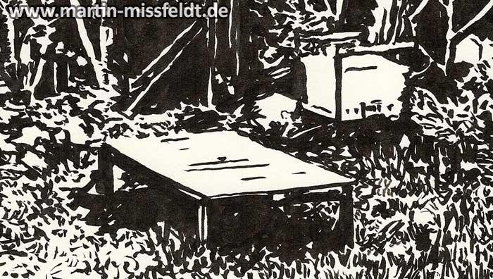 Uckermaerker country garden (drawing) (Detail 1)