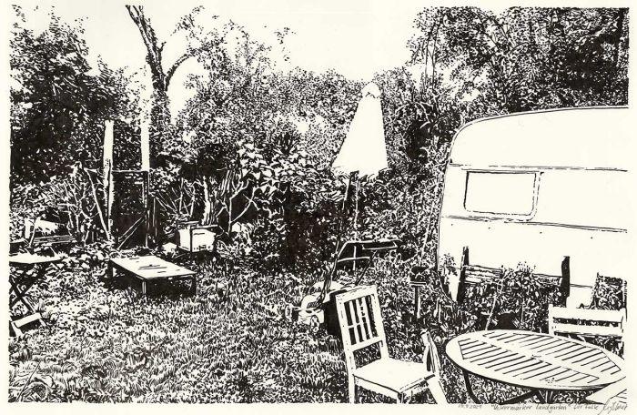 Uckermaerker country garden (drawing)