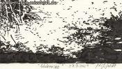 Wukensee (Brush-Pen-Drawing) (Detail 5)