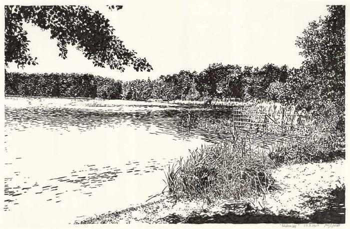 Wukensee (Brush-Pen-Drawing)
