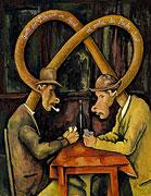 Cardplayer after Paul Cézanne