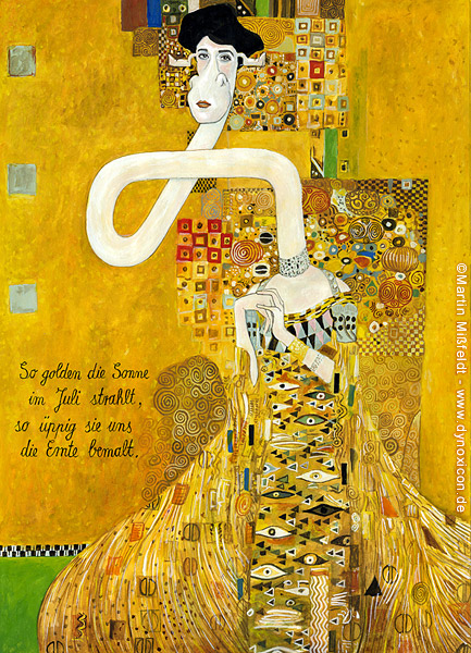 adele bloch bauer gustav klimt art cartoon. Black Bedroom Furniture Sets. Home Design Ideas