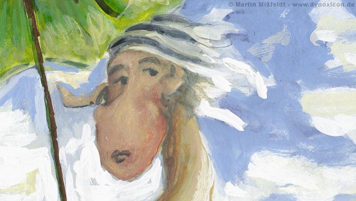 Walk with parasol – after Claude Monet (Detail 1)