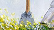 Walk with parasol – after Claude Monet (Detail 2)