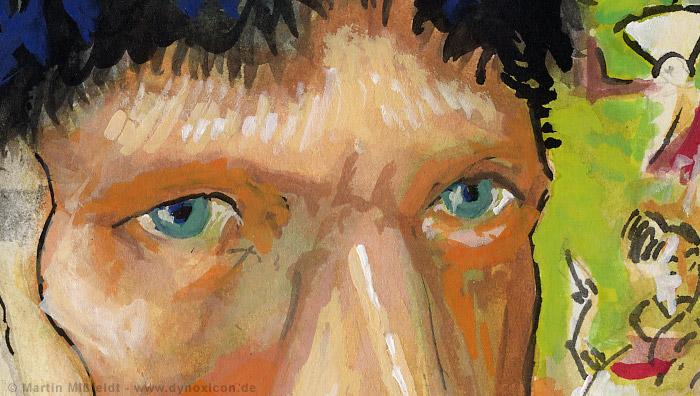 Selfportrait without ear - Vincent van Gogh (Detail 1)