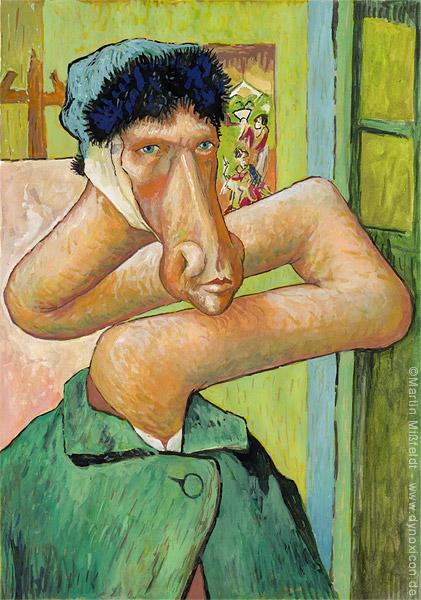 Selfportrait without ear - Vincent van Gogh