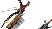Witch fire with fire salamander pattern on hand sweeps