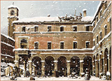 : Venice in winter with snow (after Canaletto)