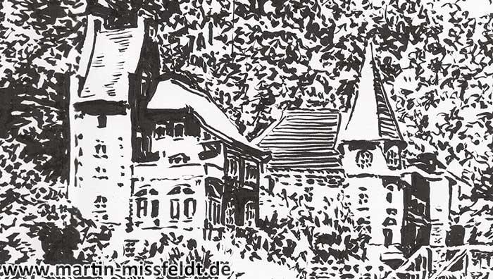 Landscape drawing Bode Valley (Detail 1)