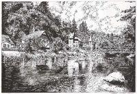 Landscape drawing Bode Valley