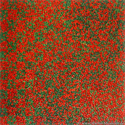Red green spots - abstract painting