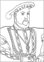 : Coloring Model King Henry 8th