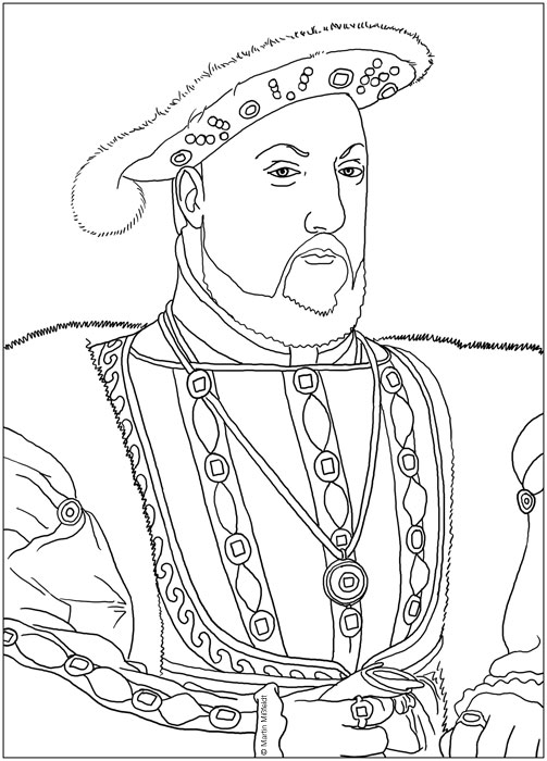 Coloring Model King Henry 8th