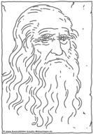 : Coloring Model of Leonardo da Vinci