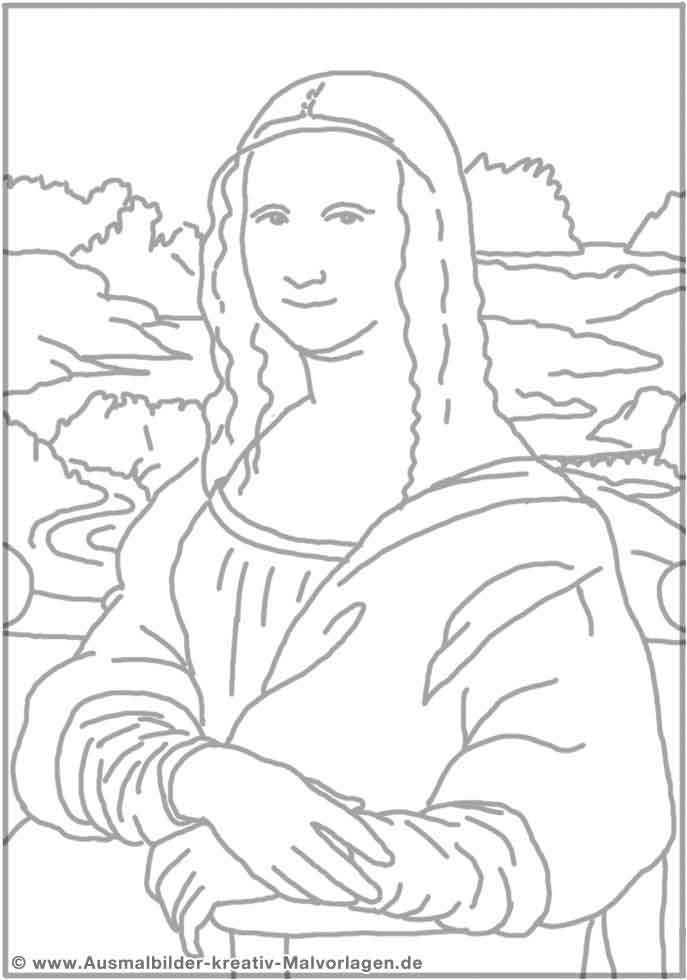 Coloring Model Of Mona Lisa