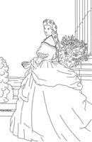 : Coloring model of a princess
