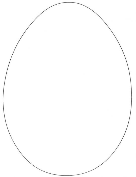 Coloring template: Easter Egg