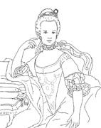 : Marie Antoinette (coloring model)