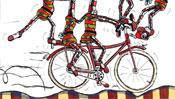 Artists on bike