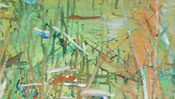 Oil-based paint strokes