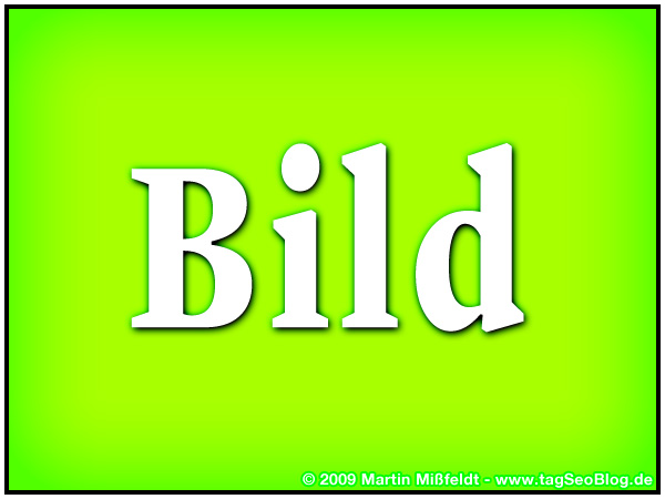 Image with the word BILD