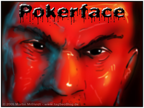 Pokerface Mr Cool - Texas holdem player