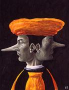 Janus-facewith long nose