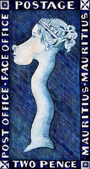 The blue Mauritius, Stamp-giraffe