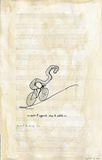Riding with bicycle – after Marcel Duchamp