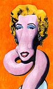 : Shot Orange Marilyn (popart) - after Andy Warhol