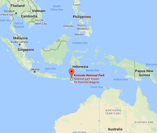 Komodo national park location