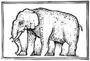 : Linocut Elephant
