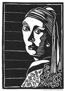 : Linocut - Woman