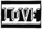 : LOVE linocutt