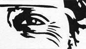 Sergey Brin (linocut) (Detail 2)
