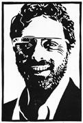 Sergey Brin (linocut)