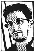 Edward Snowden (Linocut)