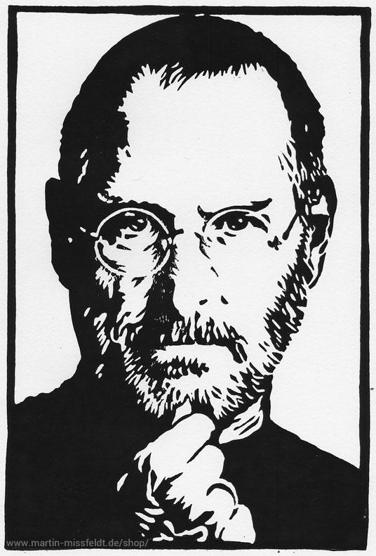 Linocut Steve Jobs