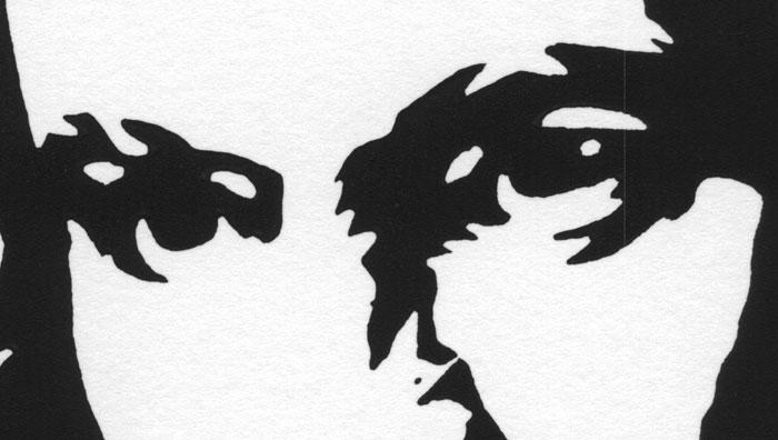 Ludwig van Beethoven Print (linocut) (Detail 1)