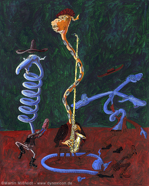 Saxophony (failed attempt to paint music)