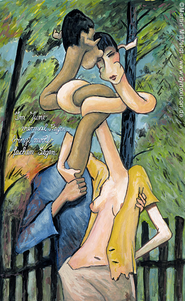 Lovers in nature - after Otto Mueller
