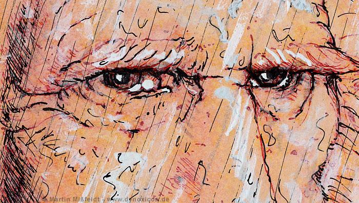Leonardo da Vinci Portrait (Detail 1)