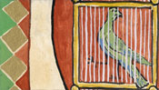 The bird in a cage and the coat of arms