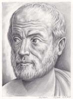 Aristotle Portrait Zeichnung